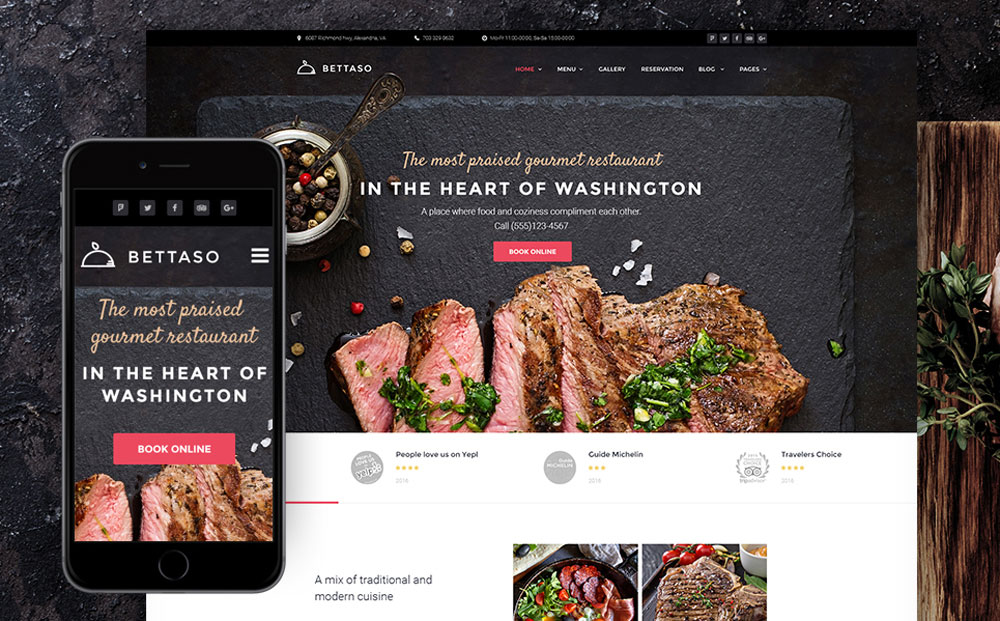 WordPress Theme for BBQ Cafe and Restaurants