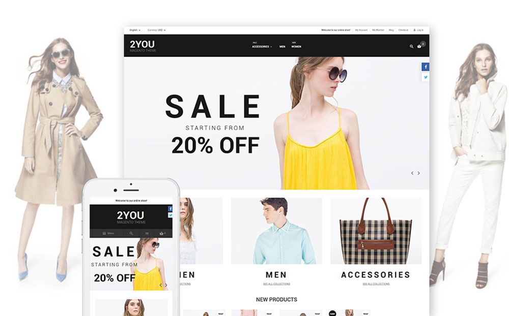 2YOU: Fashion Clothes Magento Template