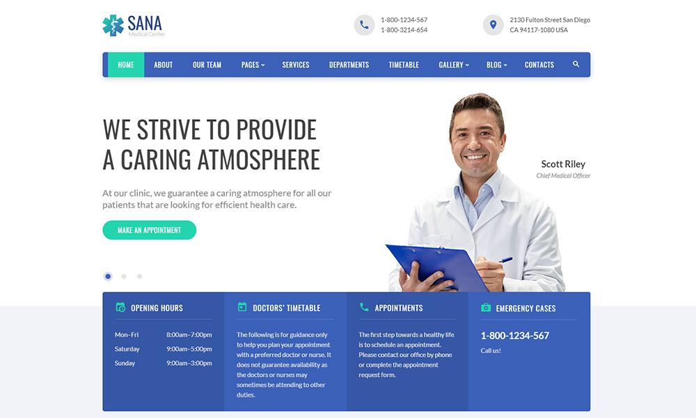 Sana - Medical Clean Responsive Website Template
