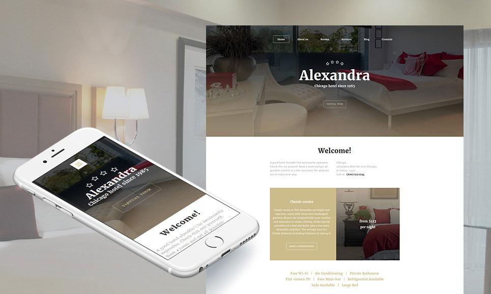 Alexandra - Hotels Responsive MotoCMS 3 Template