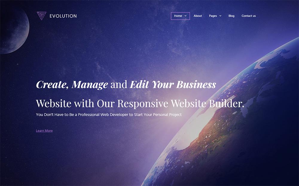Evolution Business MotoCMS Template