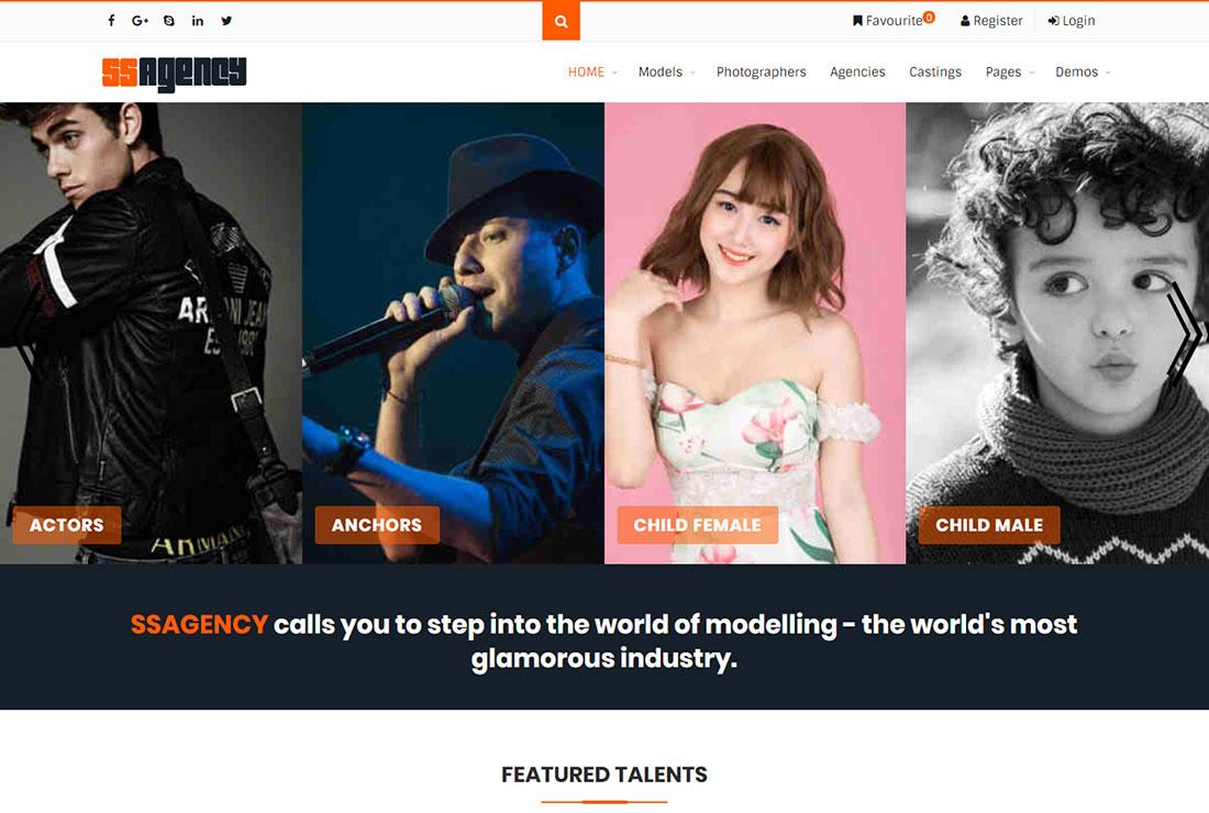 Ssagency Actor Website Template