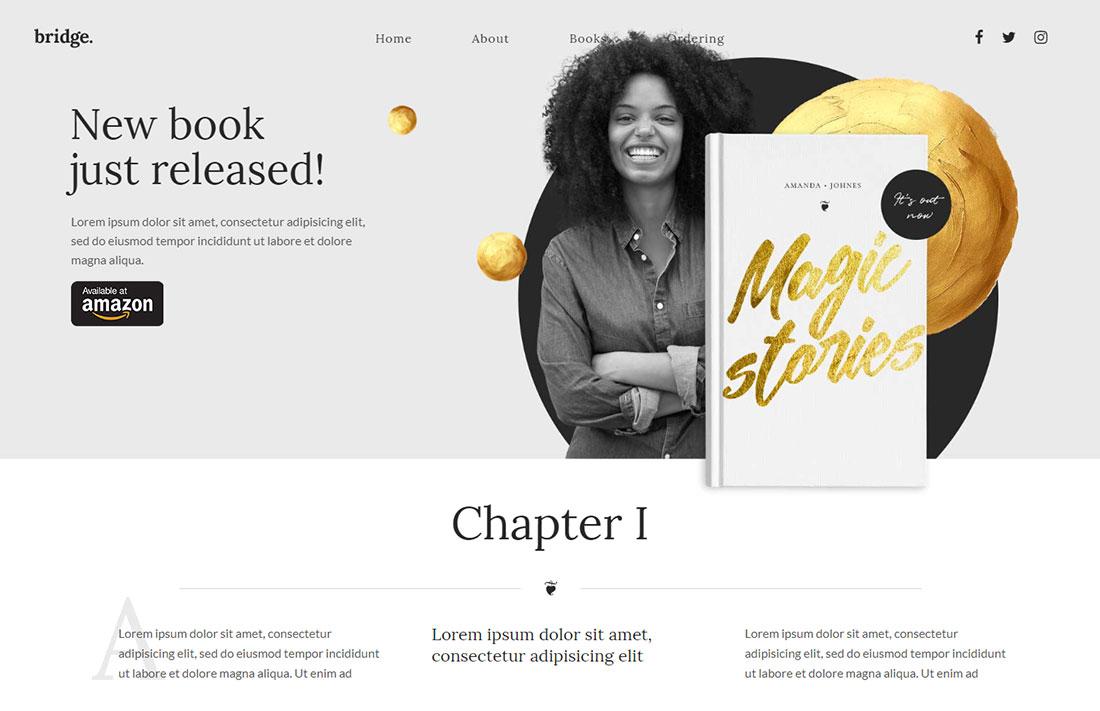 Multipurpose wordpress theme for book writers
