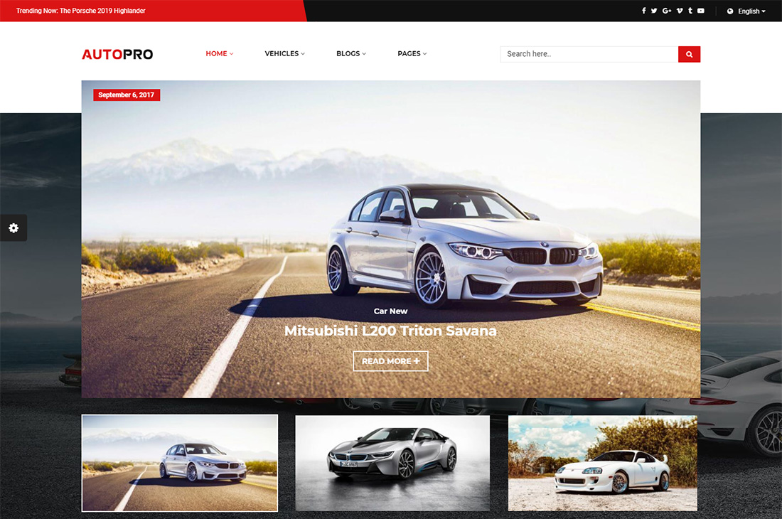 autopro cars magazine wordpress themes