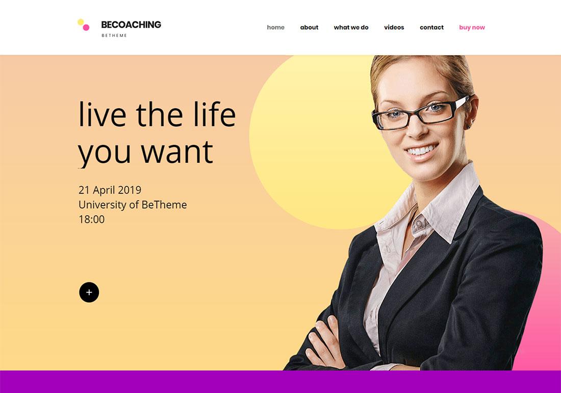 BeTheme - Multirpurpose business coaching WordPress theme
