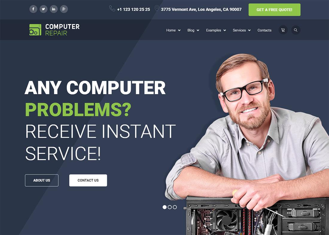 The Repair Computer Repair WordPress Themes