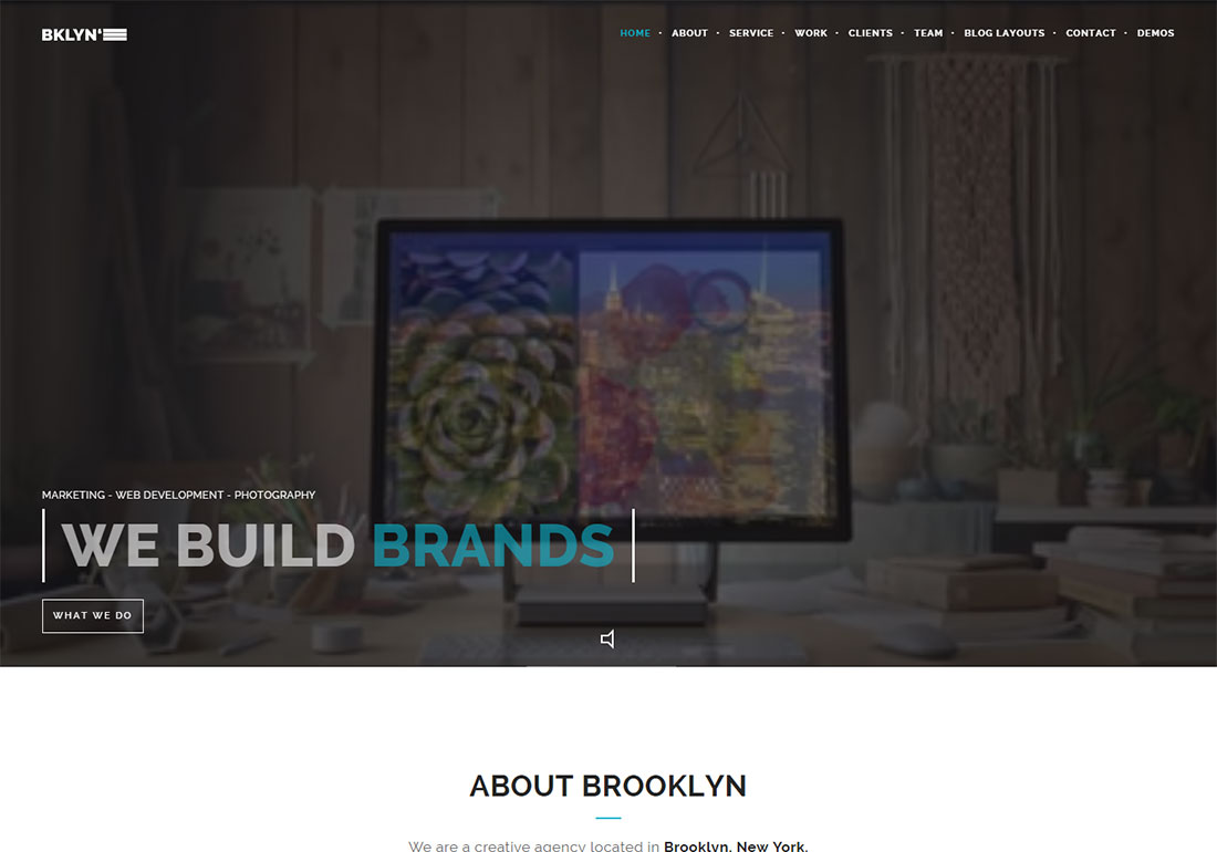 Brooklyn digital agency WordPress theme