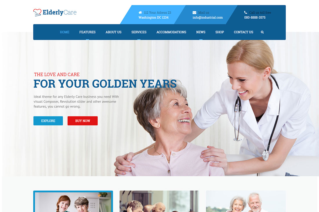 elderly care wordpress themes
