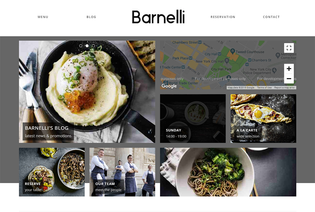Barnelli Food Truck WordPress Theme
