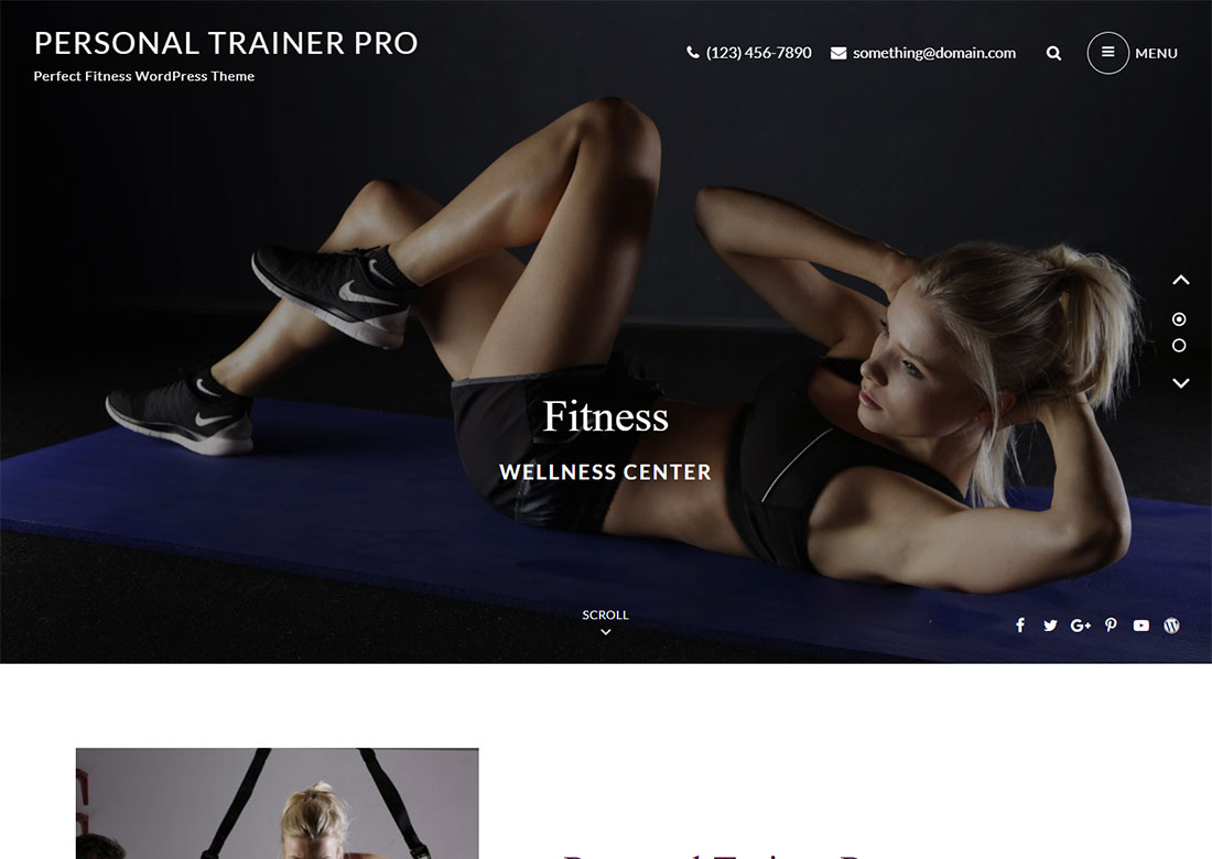 Personal WordPress theme for fitness coaches