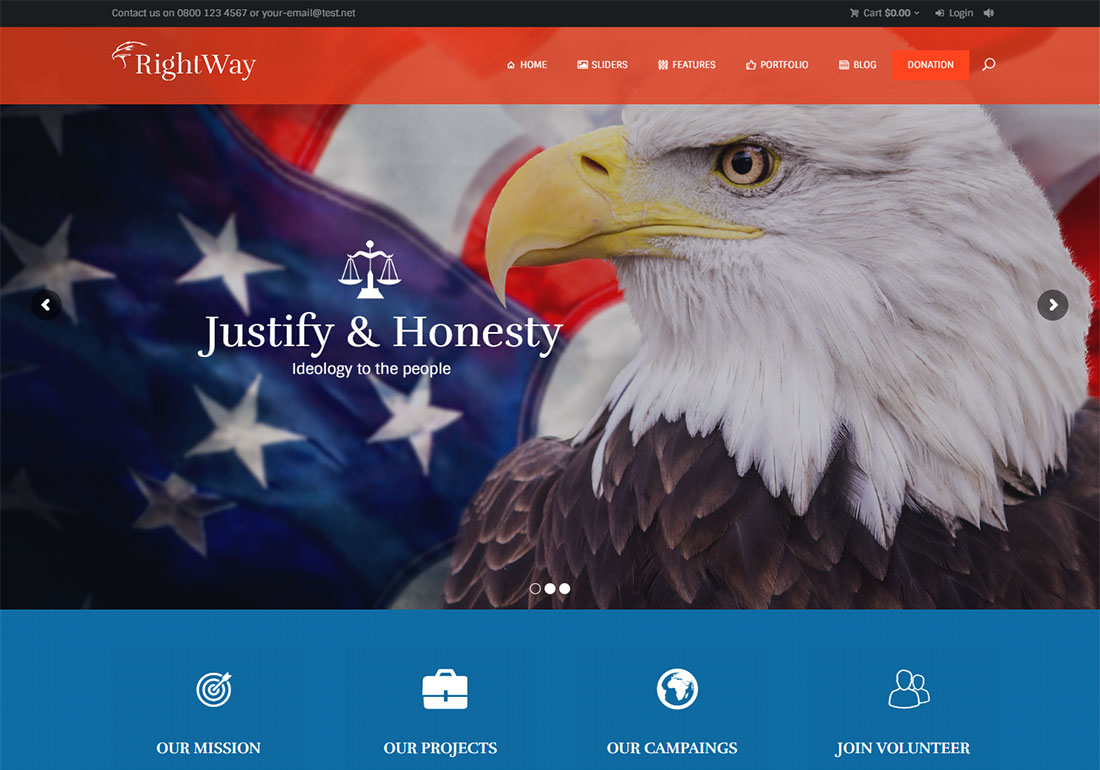 right way government WordPress theme