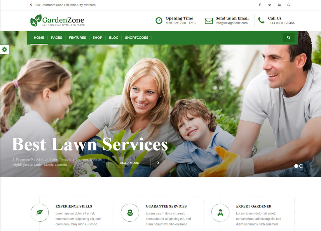 Garden Zone Landscaping Website Template