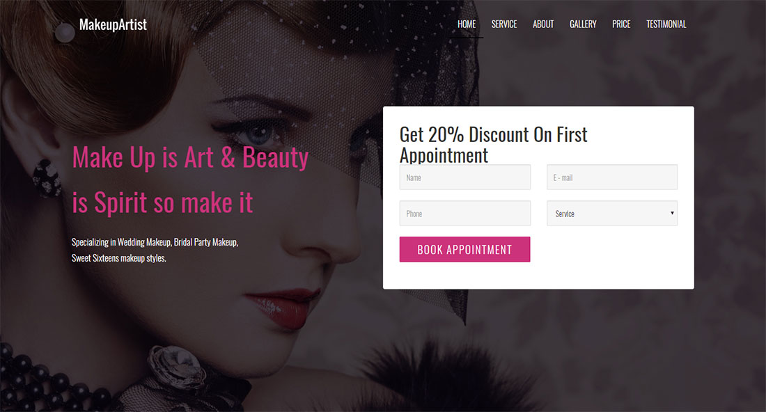 wealth makeup artist wordpress theme