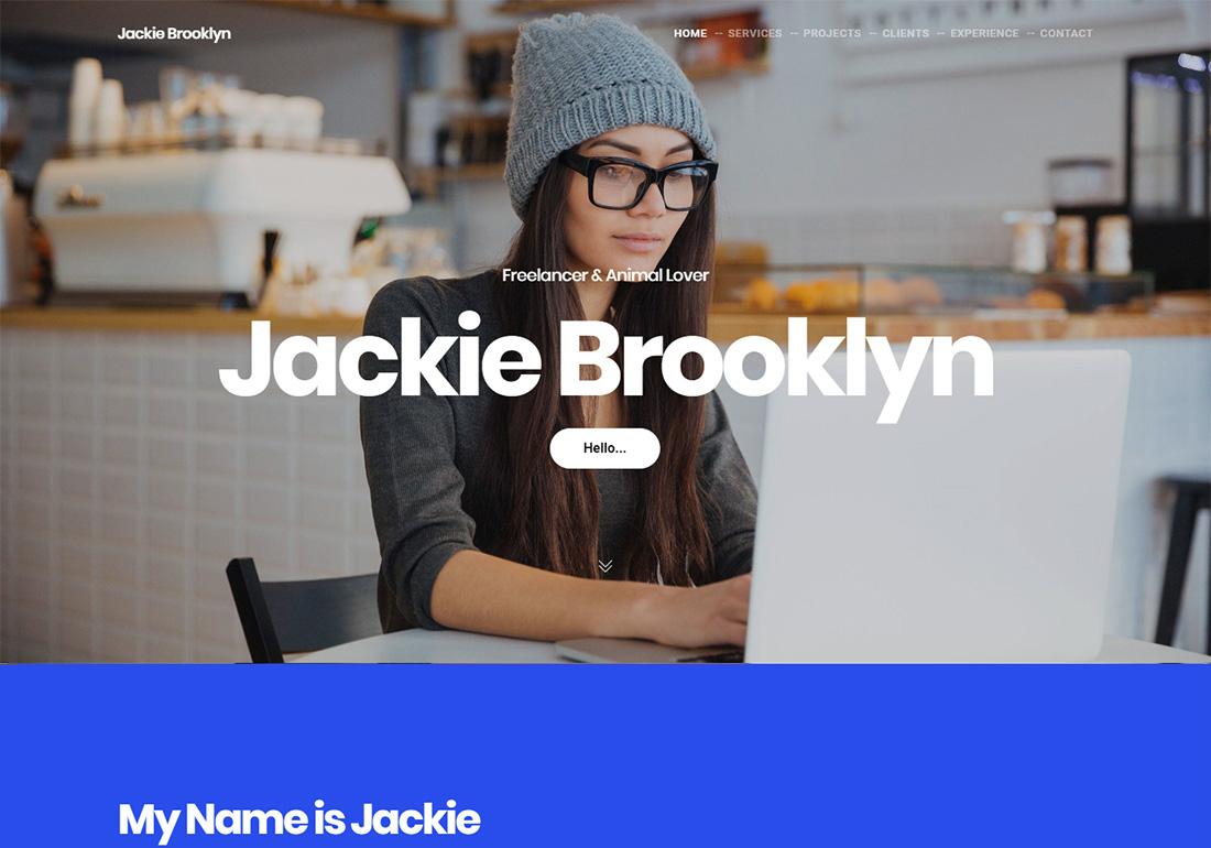 Brooklyn Personal Branding WordPress Theme