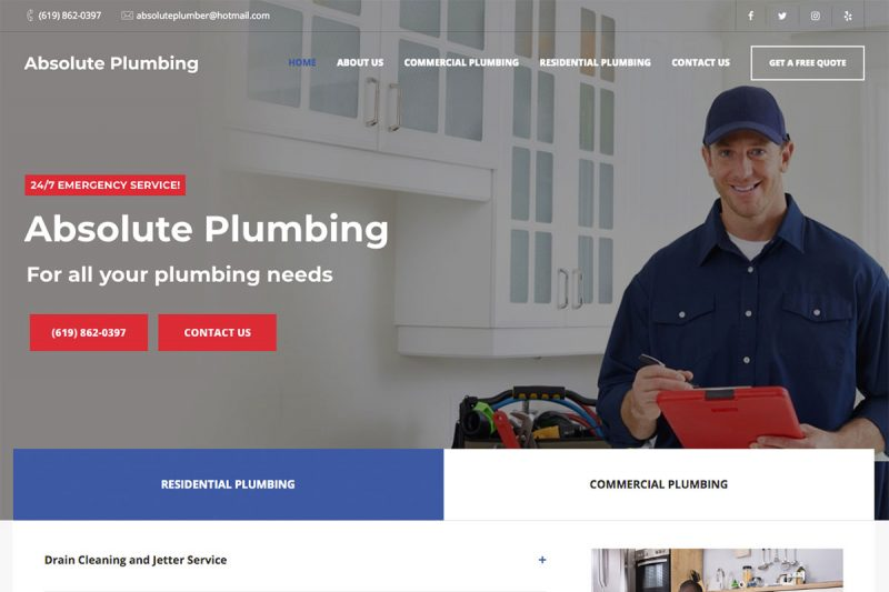 17 Best Plumbing Websites Design For Inspiration 2019