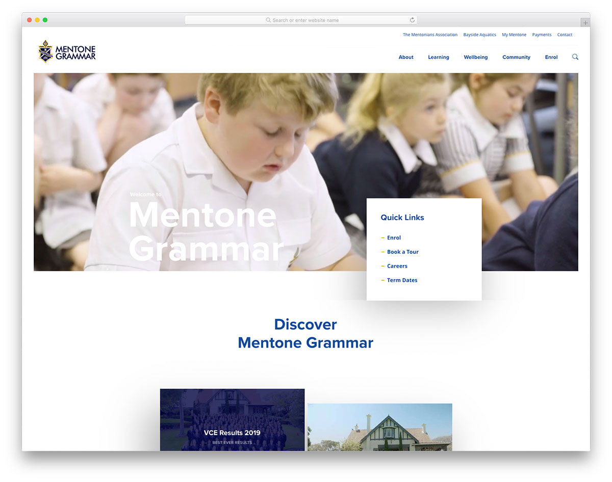 Mentone Grammar school design