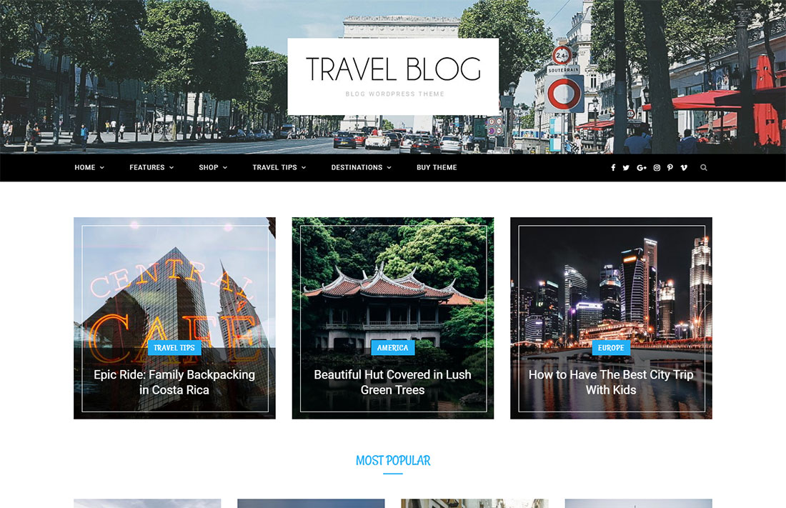 cheerup travel magazine theme