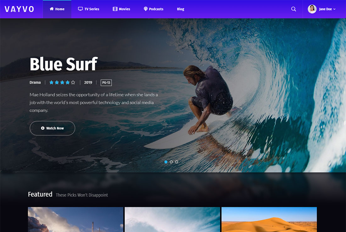 Vayvo WordPress Live Streaming Theme