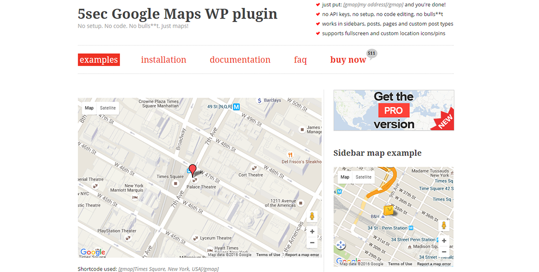 5sec Google Maps WP plugin
