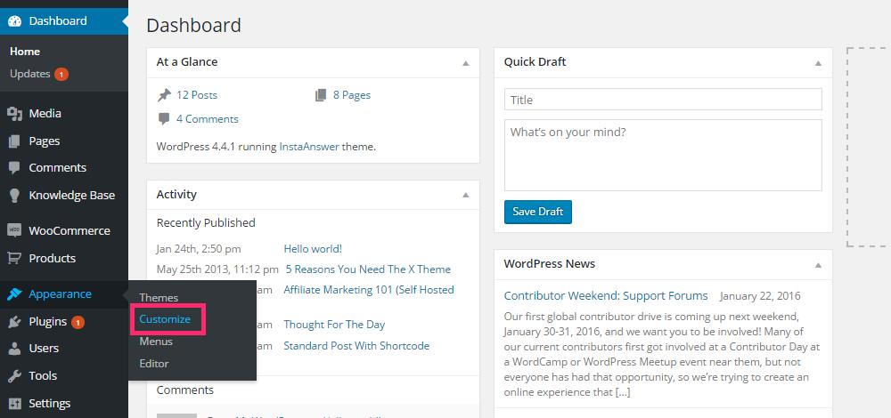 Personalizador de WordPress