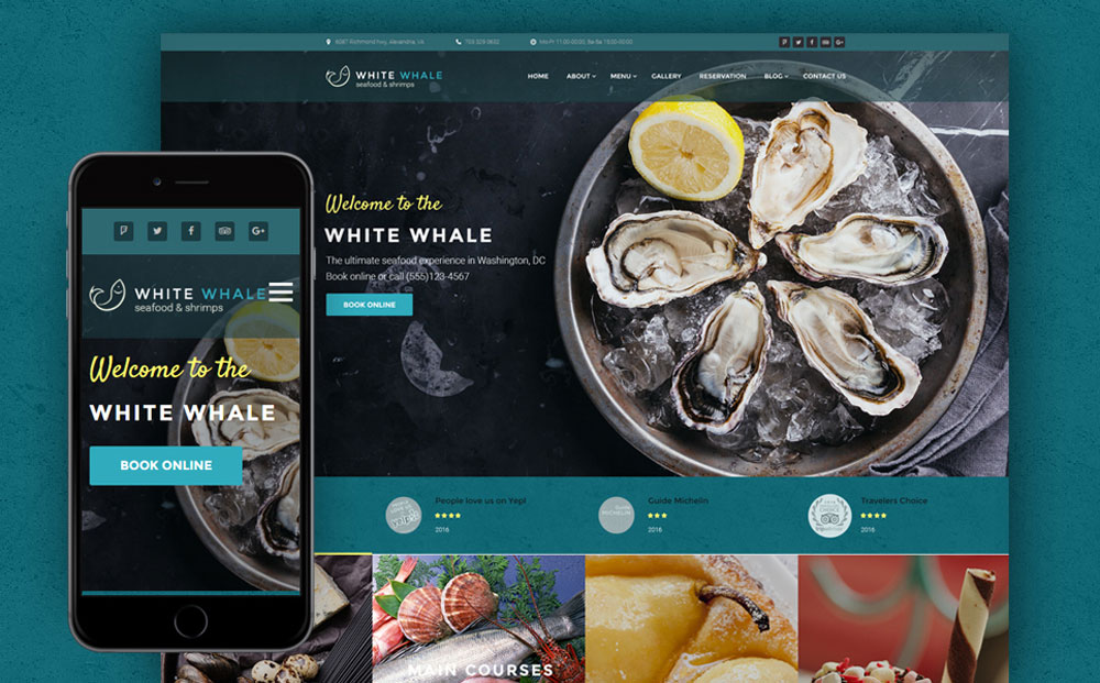 Seafood Restaurant WordPress Theme