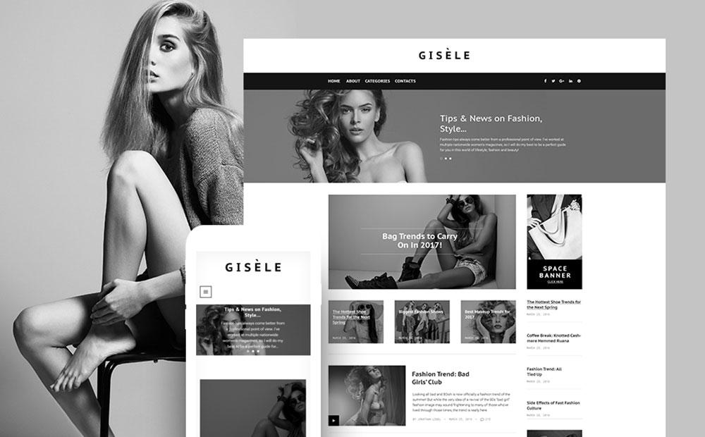 Gisele - Fashion & Lifestyle Blog WordPress Theme
