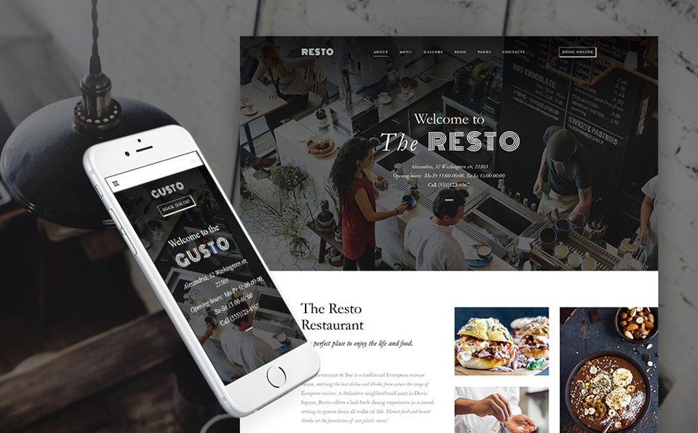 Modern Cafe & Restaurant WordPress Theme
