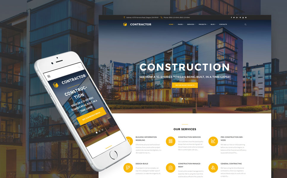 Contractor - Construction Company WordPress Theme