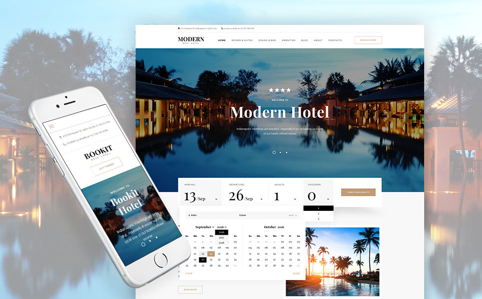 Bookit - Hotel Booking Services WordPress Theme