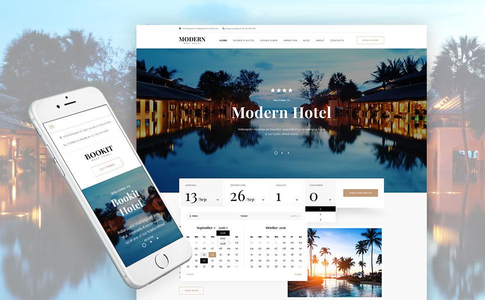 Bookit - Hotel Booking Services WordPress Theme
