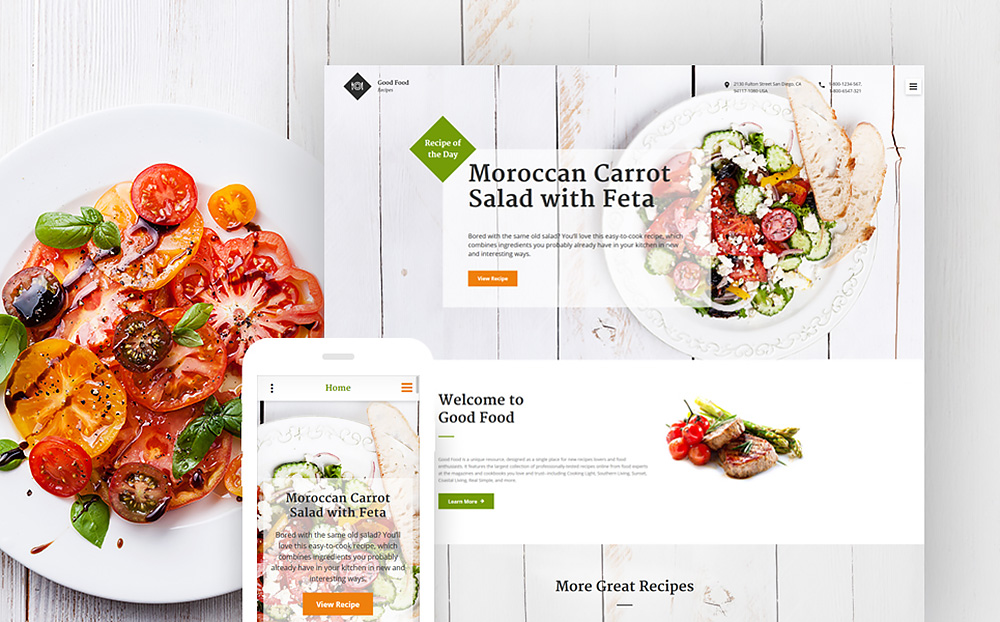Food and Beverages Site Template