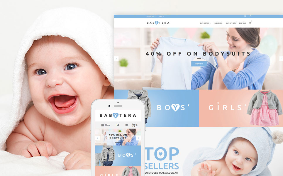Babytera: Magento Site for a Modern Baby Store