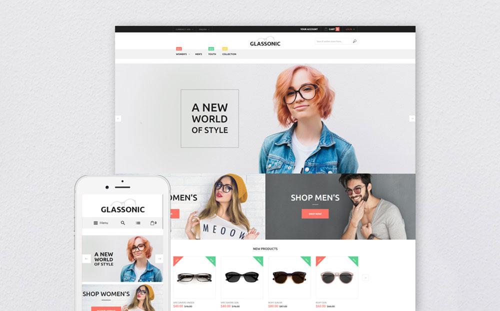 Glassonic: Designer Glasses Magento E-store