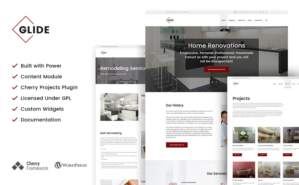odeling Contractor WordPress Theme