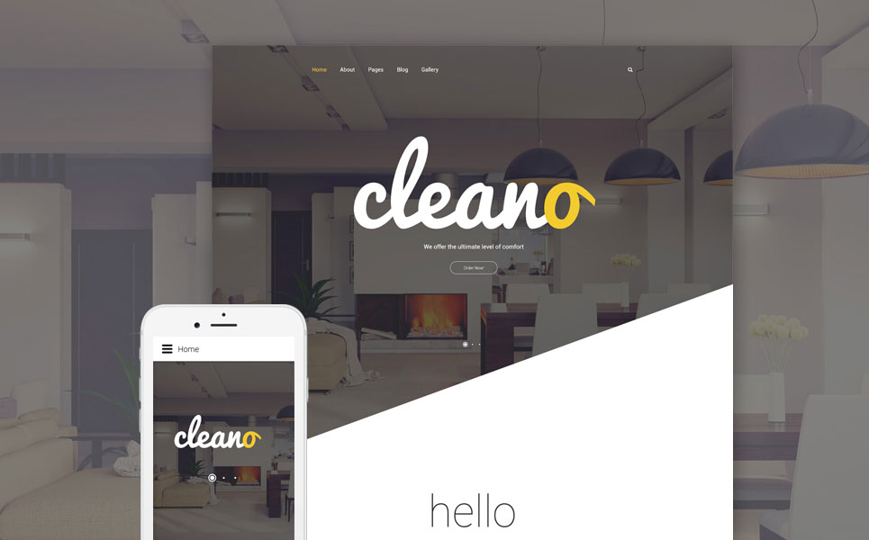 Cleano - Hotels Serives Responsive Joomla Template