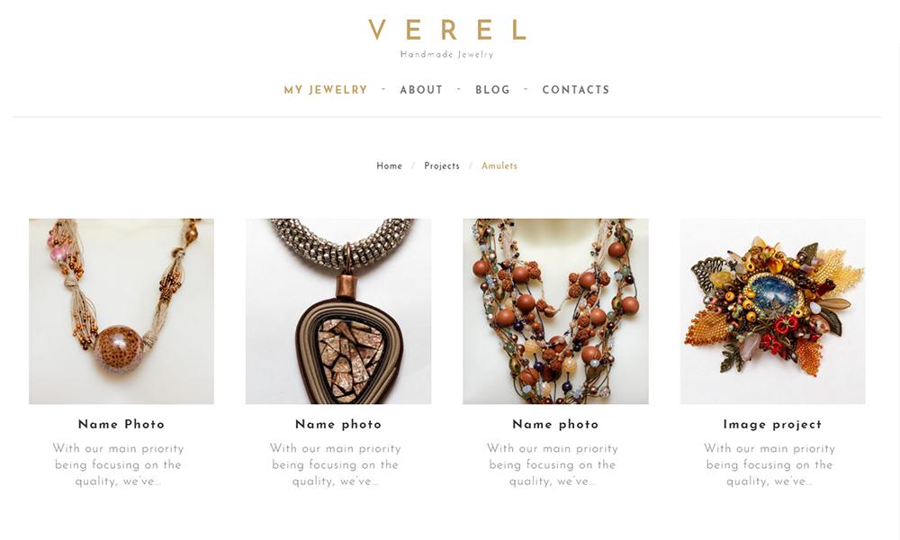 Handmade Jewelry WordPress Theme