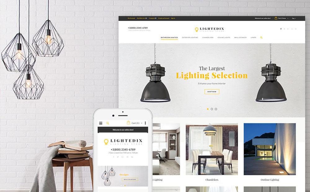 Lights ON: Lightning Store Responsive Magento Design