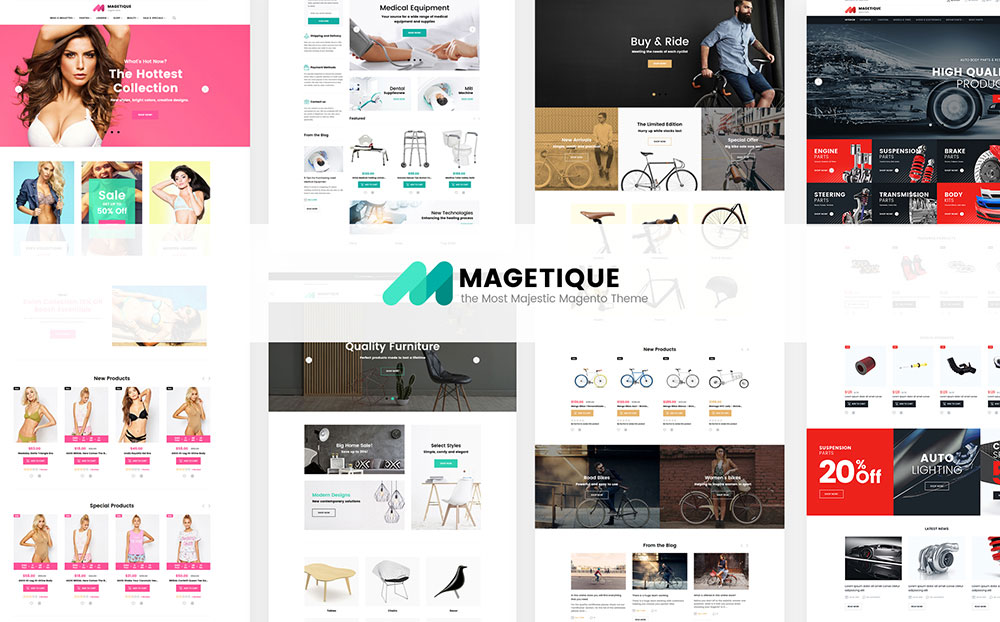Magetique: Premium Magento Template for Fashion Store