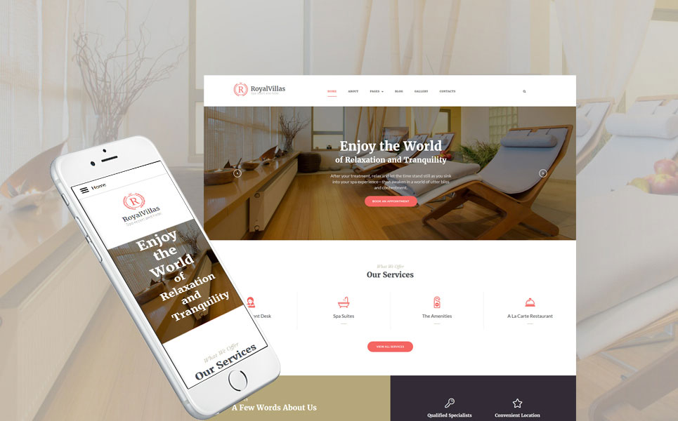 Royal Villas - Luxury Spa Resort & Hotel Joomla Theme
