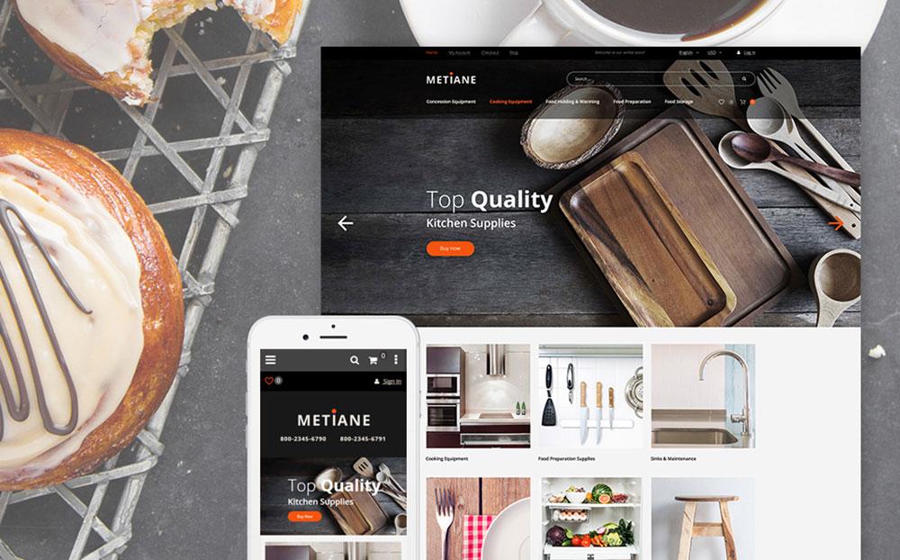 SuperKitchen: Kitchen Supplies Responsive Magento Website