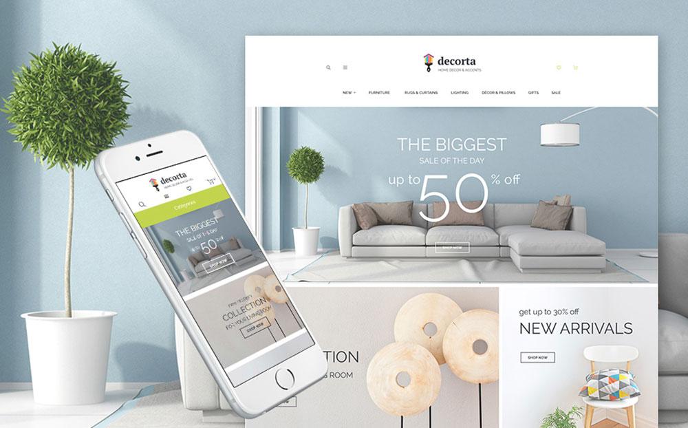 DecorMe: Home Decor Responsive Magento Site