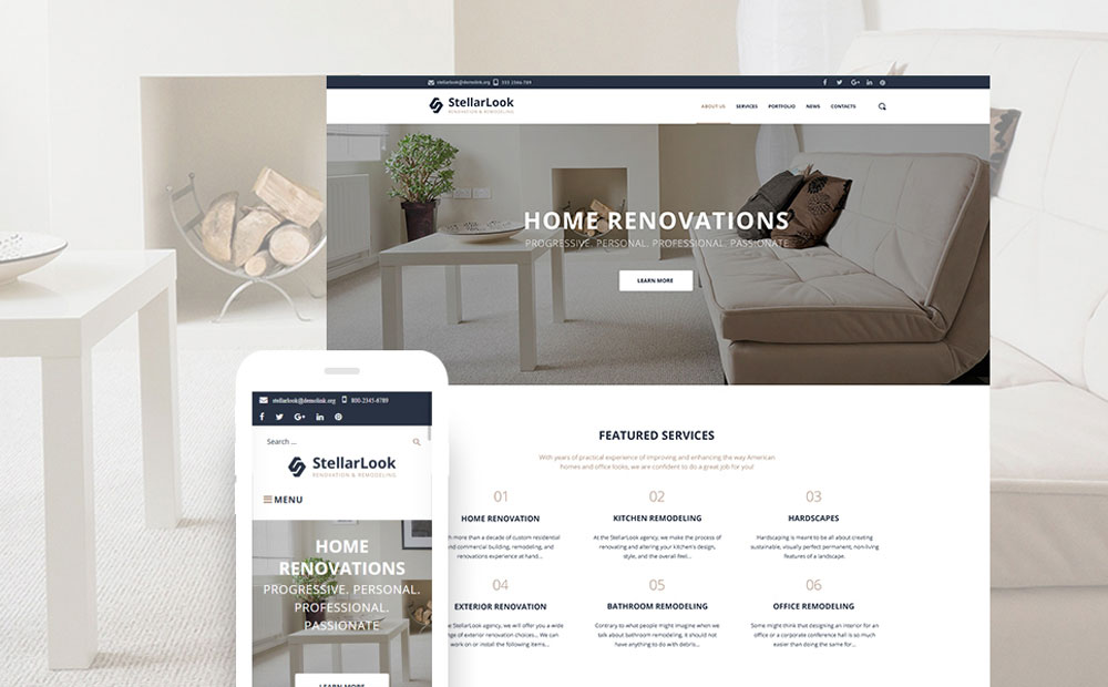 ook - Renovation & Remodeling Responsive WordPress Theme