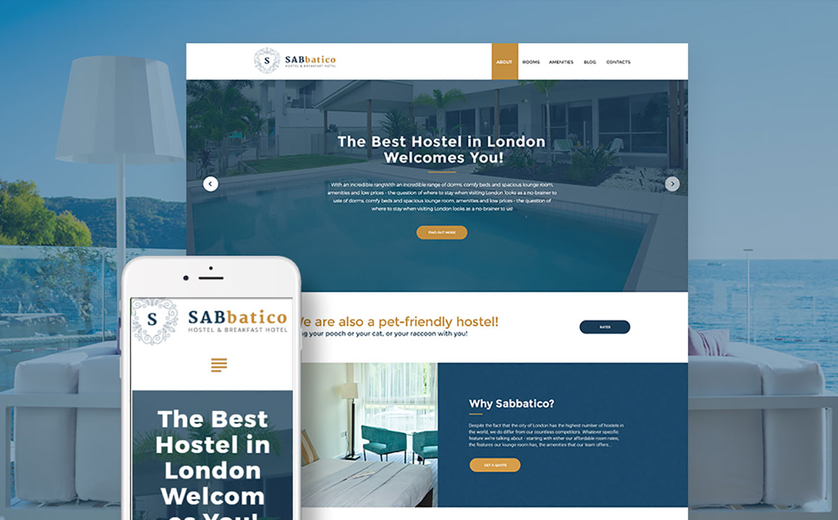 SabBatico - Hostel & Breakfast Hotel WordPress Theme
