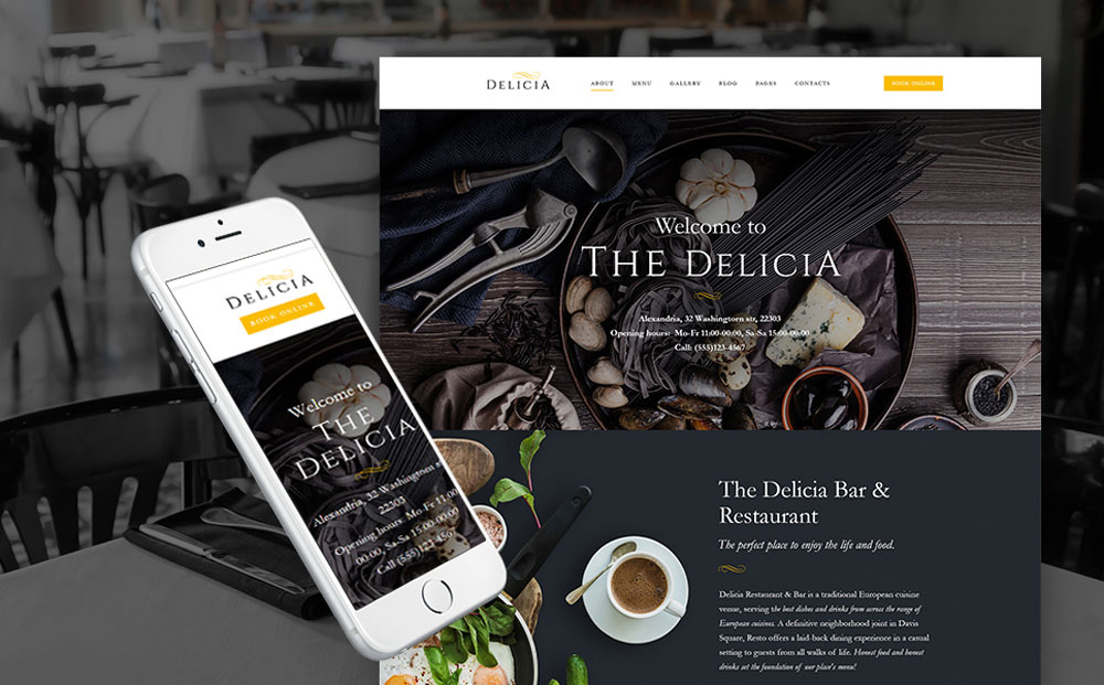 Luxury Restaurant Responsive WordPress Theme