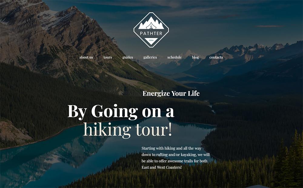 Hiking Trips & Camping WordPress Theme