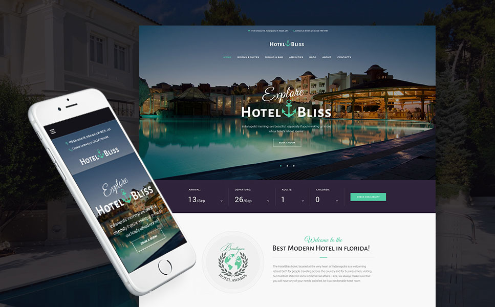 Hotel Bliss - Spa & Resort Hotel Responsive WordPress Theme