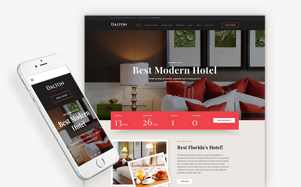 Dalton - Modern Hotel WordPress Theme