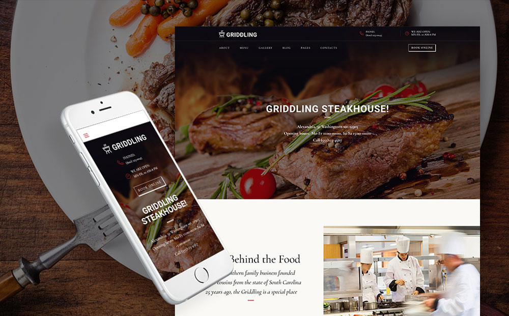 Meat Restaurant WordPress Theme