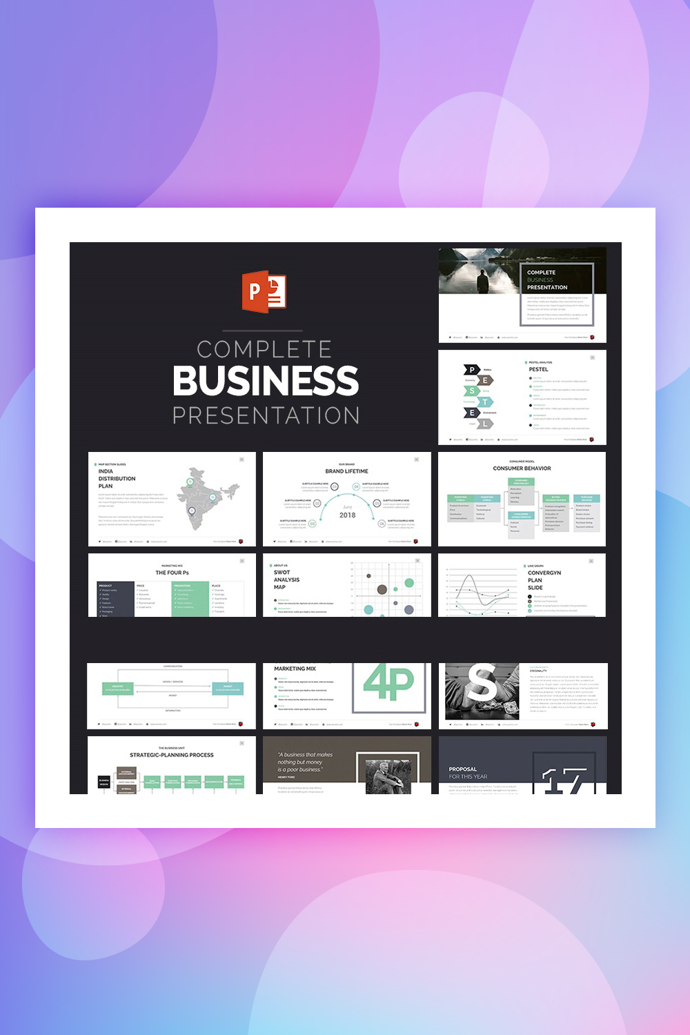 Complete Business Presentation PowerPoint Template