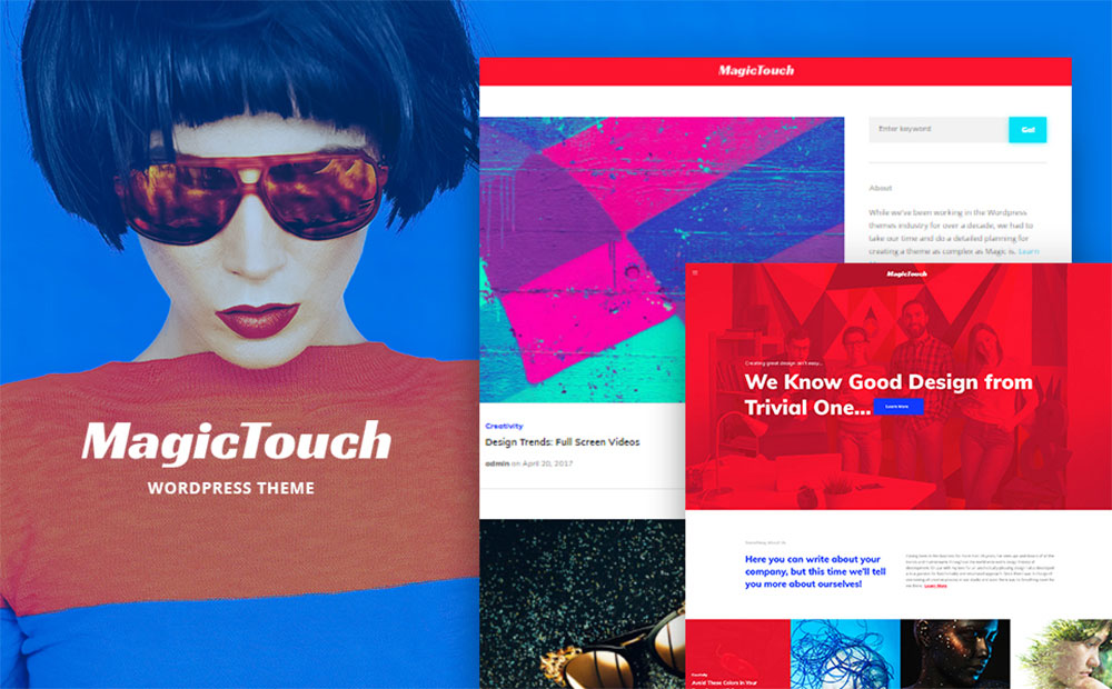 MagicTouch - Web Design Studio Responsive WordPress Theme